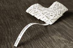 Giorno di biglietti di S. Valentino felice, nel tono di seppia fotografia stock libera da diritti