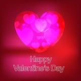Giorno di biglietti di S. Valentino felice nuovo Immagini Stock Libere da Diritti