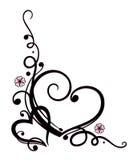 Giorno di biglietti di S. Valentino, herats, fiori Fotografie Stock