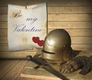 Giorno di biglietti di S. Valentino medievale Immagine Stock
