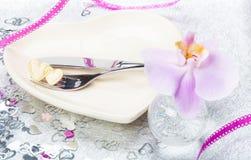 Giorno di biglietti di S. Valentino, menu Fotografia Stock Libera da Diritti