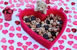 Giorno di biglietti di S. Valentino, orsacchiotto, fotografie stock libere da diritti