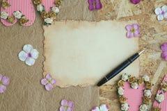 Giorno di biglietti di S. Valentino per fare lista Fotografia Stock Libera da Diritti