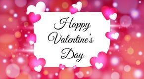 Giorno di biglietti di S. Valentino con il fondo variopinto dei cuori Carta da parati, aletta di filatoio, invito, opuscolo, inse royalty illustrazione gratis