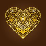 Giorno di biglietti di S. Valentino con un cuore fatto della cartolina d'auguri dell'ornamento illustrazione di stock