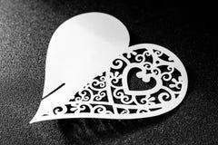 Giorno di biglietti di S. Valentino del cuore di amore fotografia stock