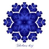 Giorno di biglietti di S. Valentino felice, carta di vettore illustrazione di stock