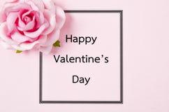 Giorno di biglietti di S. Valentino felice contro la carta Immagini Stock