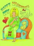 Giorno di biglietto di S. Valentino felice Immagini Stock