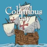 Giorno di Colombo felice Fotografia Stock Libera da Diritti