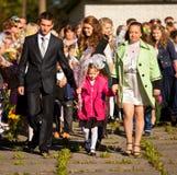 Giorno di conoscenza il 1° settembre in Russia Fotografia Stock