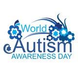 Giorno di consapevolezza di autismo del mondo Fotografia Stock Libera da Diritti