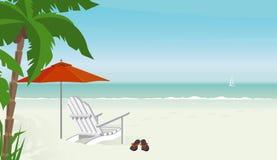 Giorno di distensione alla spiaggia illustrazione vettoriale