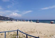 Giorno di estate caldo in Asprovalta, la Grecia fotografia stock libera da diritti
