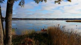 Giorno di estate dal lago fotografia stock