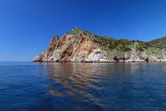 Giorno di estate della baia di Balaclava fotografia stock