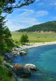 Giorno di estate, lago Baikal Fotografia Stock