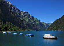 Giorno di estate nel lago Klontal Immagini Stock Libere da Diritti