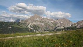 Giorno di estate nelle alpi svizzere Immagini Stock