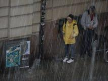 Giorno di estate piovoso a Stoccolma Fotografia Stock Libera da Diritti