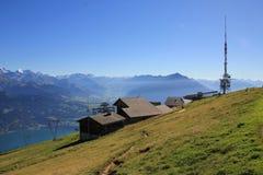Giorno di estate sul Mt Niederhorn Fotografia Stock