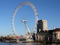 Giorno di estati dell'occhio di Londra Immagini Stock Libere da Diritti
