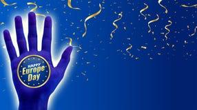 Giorno di Europa Festa nazionale annuale a maggio illustrazione di stock