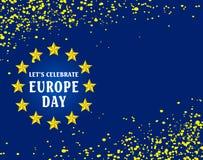 Giorno di Europa Festa nazionale annuale a maggio illustrazione vettoriale