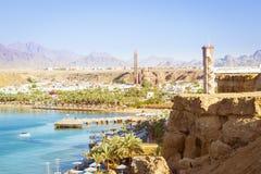 Giorno di febbraio sulla spiaggia in Sharm el-Sheikh Fotografie Stock Libere da Diritti