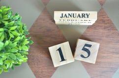 Giorno di gennaio con la foglia sul diamante fotografie stock