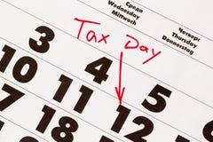 Giorno di imposta Immagine Stock