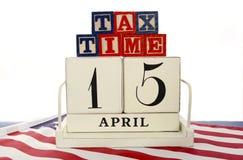 Giorno di imposta di U.S.A., il 15 aprile, concetto Immagini Stock Libere da Diritti