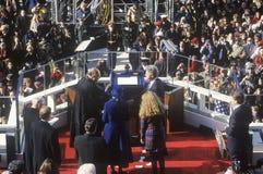 Giorno di inaugurazione del Bill Clinton Fotografia Stock