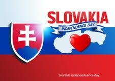 Giorno di independeance della Slovacchia royalty illustrazione gratis