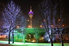 Giorno di inverni a Dusseldorf fotografia stock libera da diritti