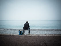 Giorno di inverno alla spiaggia Fotografie Stock