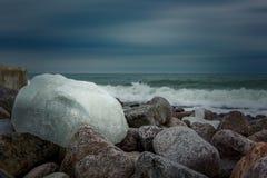 Giorno di inverno dal mare Fotografie Stock Libere da Diritti