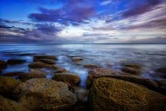 Giorno di inverno dal mare Fotografie Stock