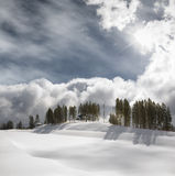 Giorno di inverno nel Alpes. fotografie stock libere da diritti