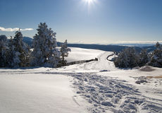 Giorno di inverno piacevole in Sarikamis immagine stock libera da diritti