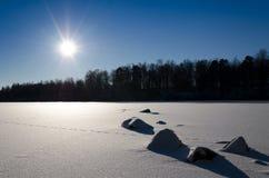 Giorno di inverno soleggiato Fotografie Stock Libere da Diritti