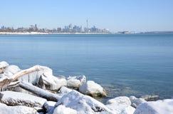 Giorno di inverno soleggiato dell'orizzonte di Toronto Immagini Stock