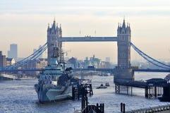 Giorno di inverno soleggiato a Londra Fotografie Stock Libere da Diritti