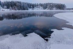 Giorno di inverno sul lago Fotografie Stock Libere da Diritti