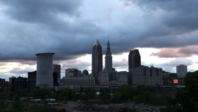 giorno di 4K UltraHD Timelapse alla notte a Cleveland, Ohio video d archivio