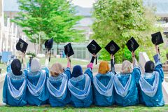 Giorno di laurea fotografia stock