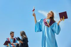 Giorno di laurea degli studenti Fotografia Stock