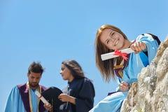 Giorno di laurea degli studenti Fotografie Stock Libere da Diritti