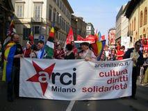 Giorno di liberazione in Milan.Italy, Fotografia Stock Libera da Diritti