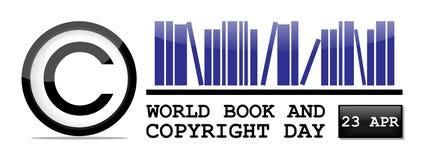 Giorno di libro e di copyright di mondo illustrazione di stock
